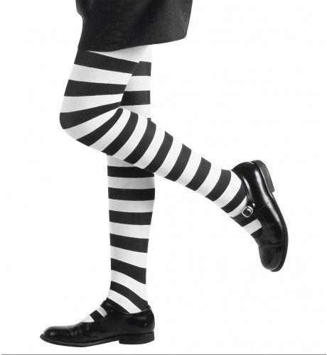 Gestreepte Kinderpanty Wit / Zwart