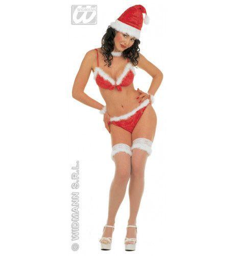 Bikini Uitvoering Kerstvrouw Hot Santa Kostuum