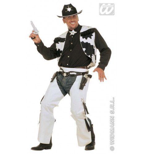 Cowhide Cowboy Kostuum Man