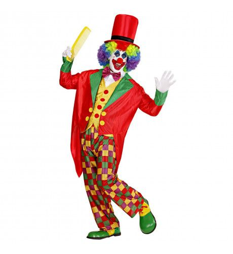 Clown Luxe Multicolour Kostuum Man