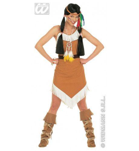 Sexy Indiaanse Jurk Nature Kostuum Vrouw