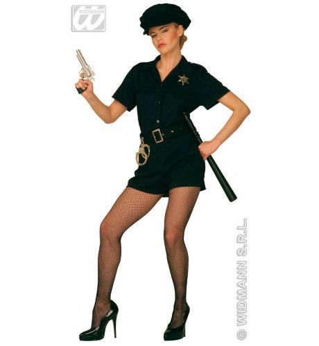 Agente Ms Officer Jumpsuit Kostuum Vrouw