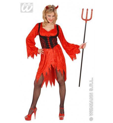 Vrouwelijke Sexy Duivel Kostuum