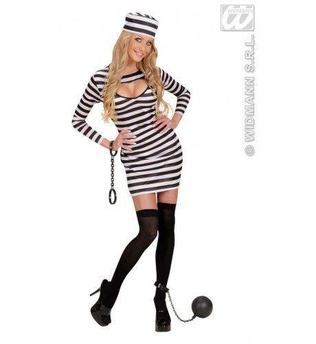 Sexy Jurk Gevangene Kostuum Vrouw