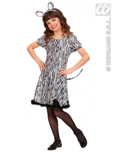 Dress Zebra Kostuum Meisje