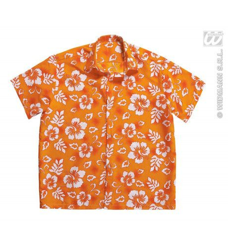 Hawaii Shirt Oranje Man