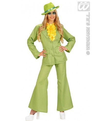 Neon Groen, Dame Party Fever Girl XL Kostuum Vrouw