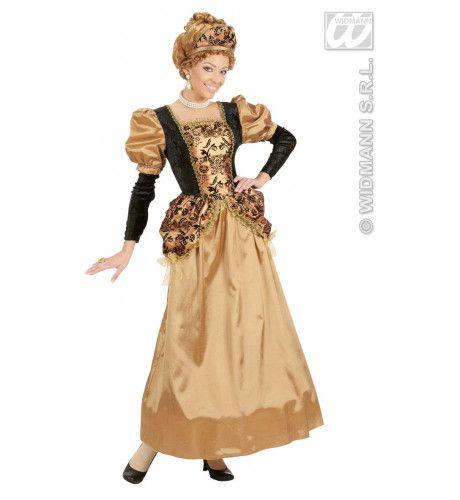 Koninklijke Middeleeuwse Majesteit Kostuum Vrouw