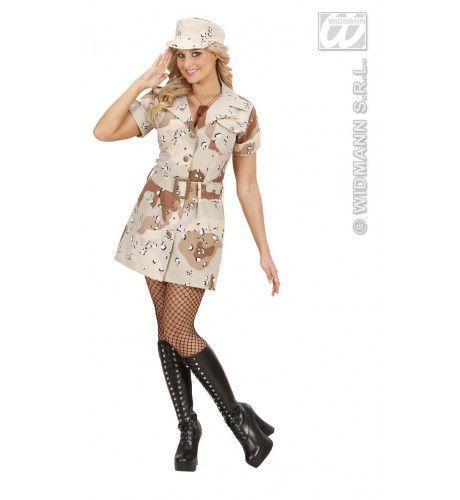 Soldatenmeisje Desert Storm Hot Trooper Kostuum Vrouw