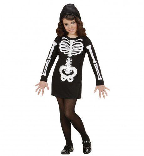 Skelet Meisje Kostuum