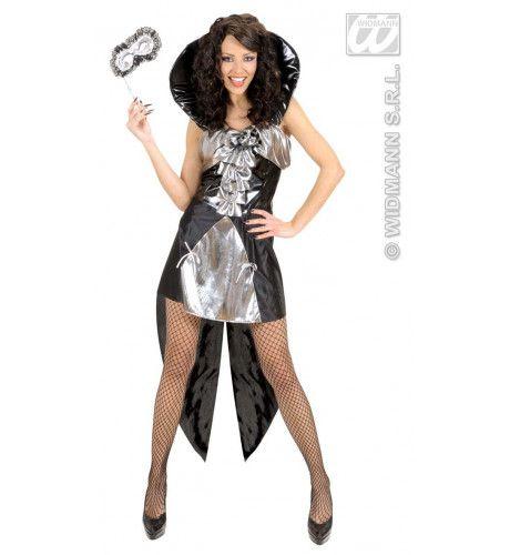 Gotische Koningin Zilver Lady Attraction Kostuum Vrouw