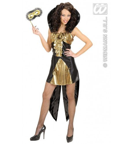 Gotische Koningin Goud Lady Attraction Kostuum Vrouw