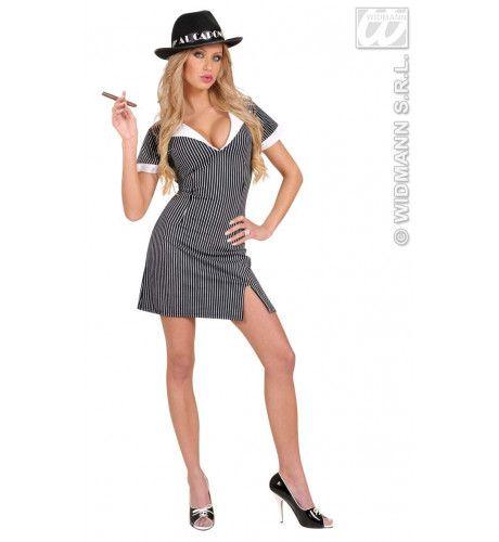 Twenties Gangster Meisje Luxe Kostuum Vrouw