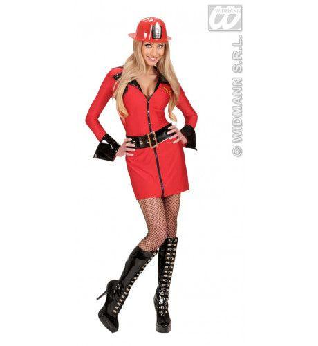 Brandweer Dame, Sexy Hot Fire Kostuum Vrouw