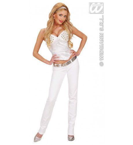 Corset, Wit Satijn XL Vrouw