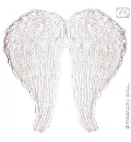 Veren Vleugel Engel, 46x51 Centimeter In Wit
