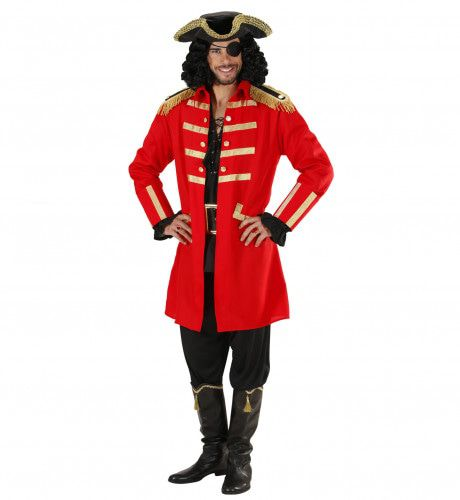 Rode Piraat / Kapitein Kielhaal Kostuum Man