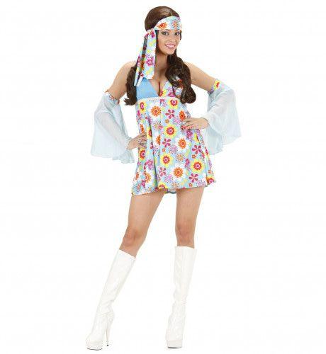 70s Meisje Lichtblauw Kostuum Vrouw