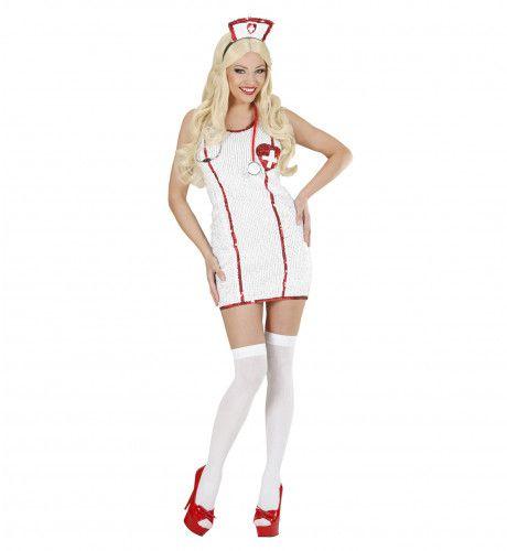 Paillettenjurk Verpleegster Ms Love Kostuum Vrouw