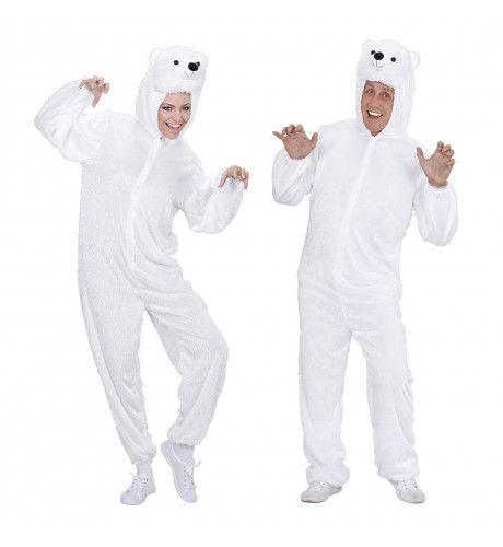 Full-Body Pluche IJsbeer Volwassen Kostuum