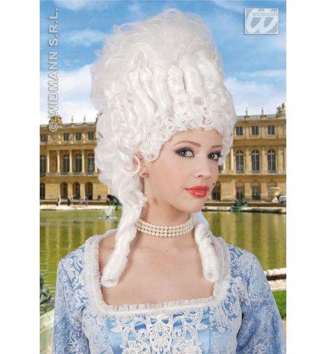 Pruik, Marie Antoinette Wit