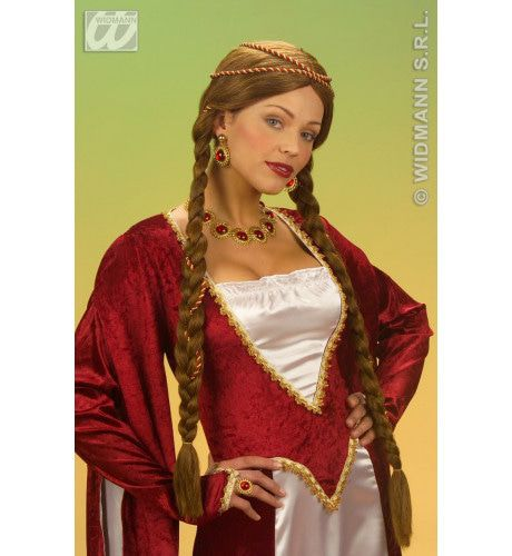 Pruik, Middeleeuwse Koningin Bruin, In Doos