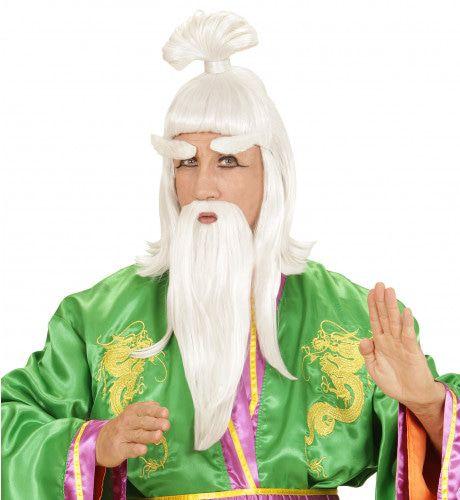 Pruik, Martial Art Meester Met Baard Mr Sharimamoto