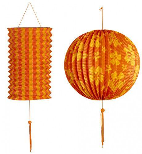 Feestelijke Decoratie Set Oranje / Geel