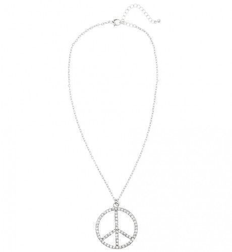 Peace Woman Ketting Strass, Hippie