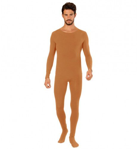 Unicolor Bodysuit Lichaamskleur Man Kostuum