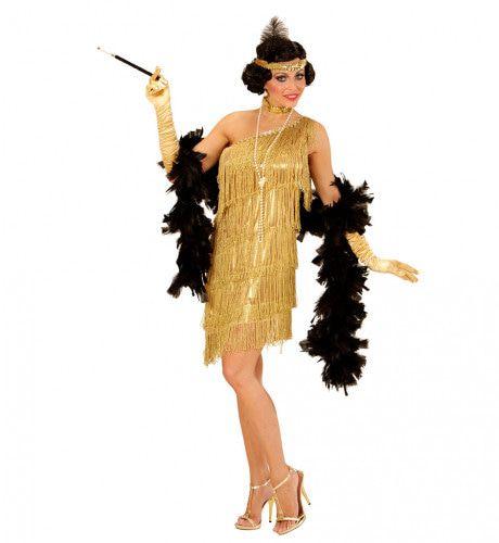 Amerikaanse Weelderigheid Flapper Goud Vrouw Kostuum
