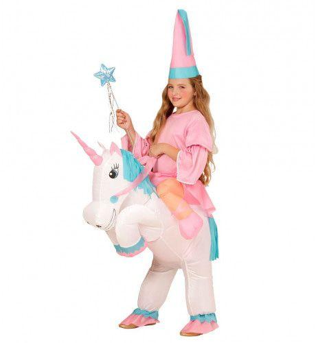 Lieve Opblaasbare Unicorn Kind Meisje Kostuum