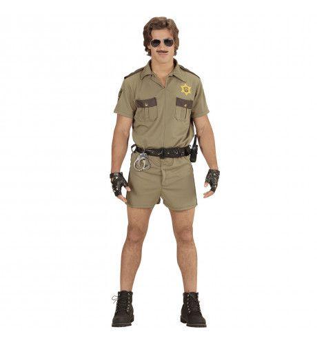 Brandon Agent California Highway Petrol Bruin Politie Man Kostuum