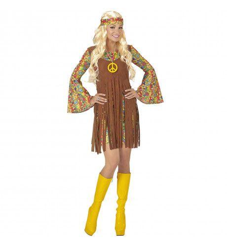 Hippie Meisje Davy Vrouw Kostuum