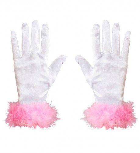 Handschoenen Satijn Marabou Prom Prinses