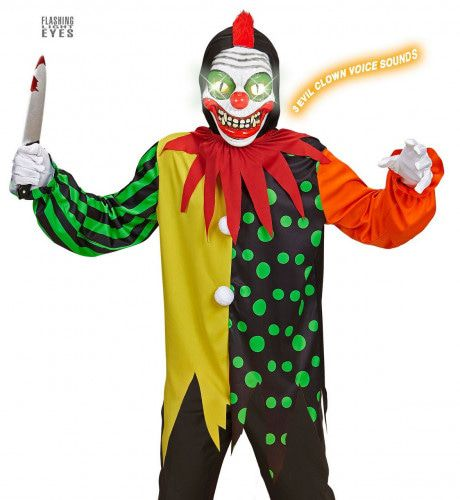 Horror Clown Elektro Jongen Kostuum