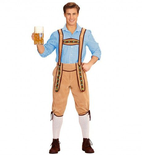 Beierse Lederhose Kohl Beige Man