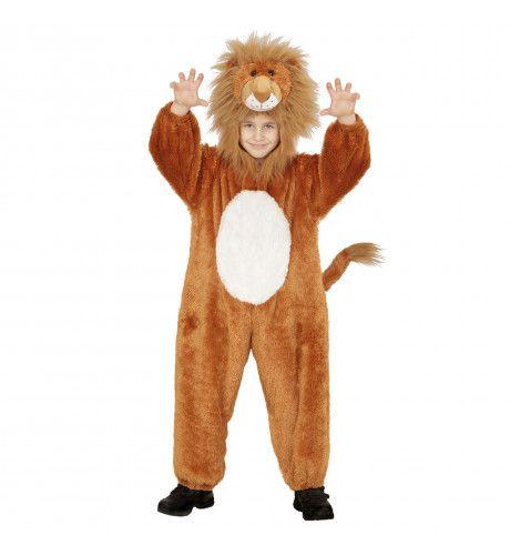 Jumpsuit Met Kap En Masker 98cm, Koning Leeuw Kostuum
