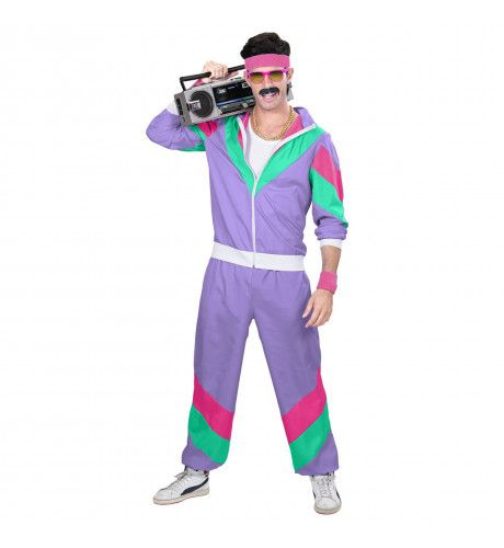 Trainingspak Mister Wrong Paars Man Kostuum