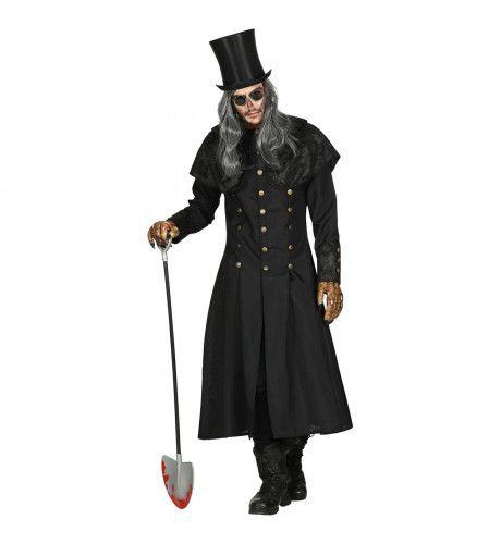 Gotische Grafdelver Begrafenisondernemer Man Kostuum