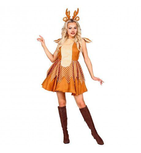 Sexy Schattebout Rendier Vrouw Kostuum