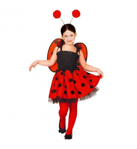 Ladybird Rood Met Zwarte Stippen Lieveheersbeestje Meisje Kostuum