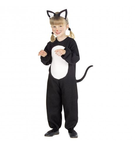 Zwarte Kat Op Muizenjacht Kind Kostuum