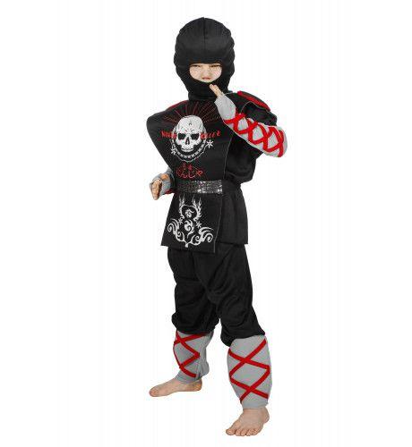 Ninja Klap Erop Jongen Kostuum