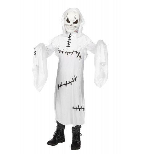 Lijkbleek Spook Met Masker Kind Kostuum