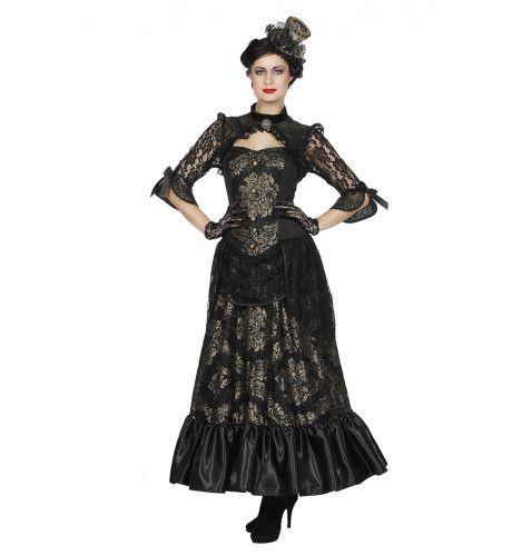 Britse Victoriaanse Freule Jane Eyre Vrouw Kostuum