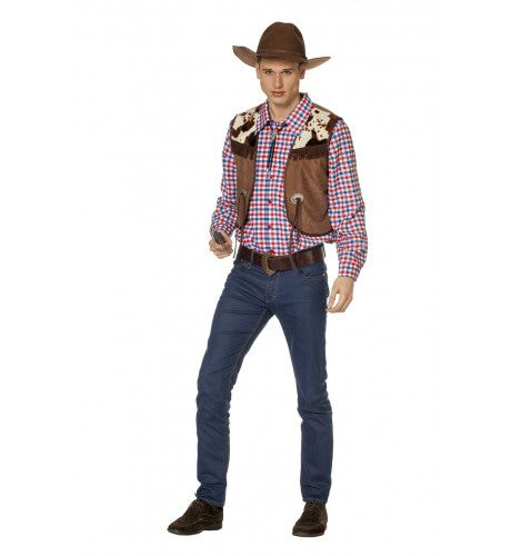 Alleen Op De Prairie Cowboy Blouse Met Vest Man