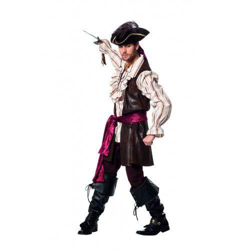 Piraat Strakke Zeilen Galjoen Man Kostuum
