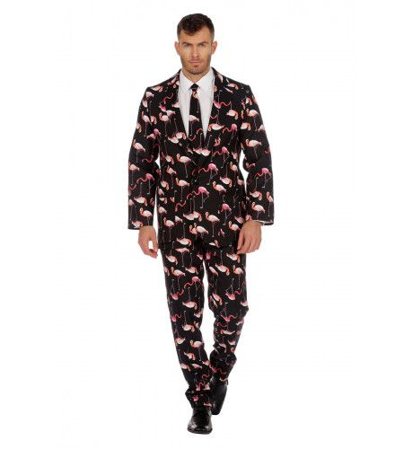 Honderd Flamingos Op 1 Poot Man Kostuum