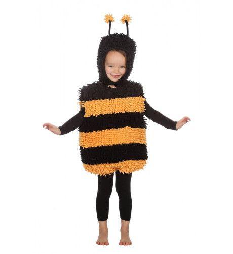 Zacht Zoemend Zwart Geel Bijtje Kind Kostuum